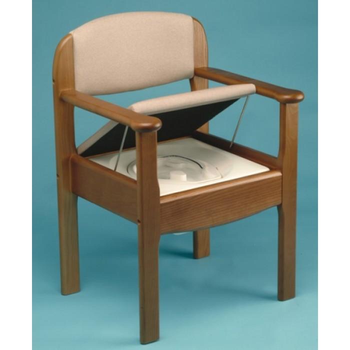 Silla wc de madera royal ortopedia movernos for Sillas wc para enfermos