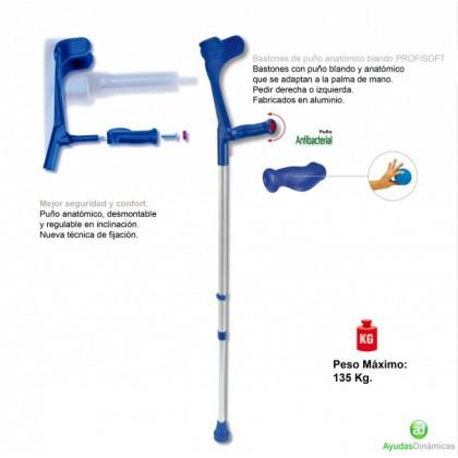 Bastón con Puño Anatómico Blando (AD112) - Ortopedia Movernos