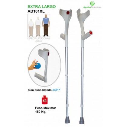 Bastón de Aluminio Extra largo (AD101XL) - Ortopedia Movernos