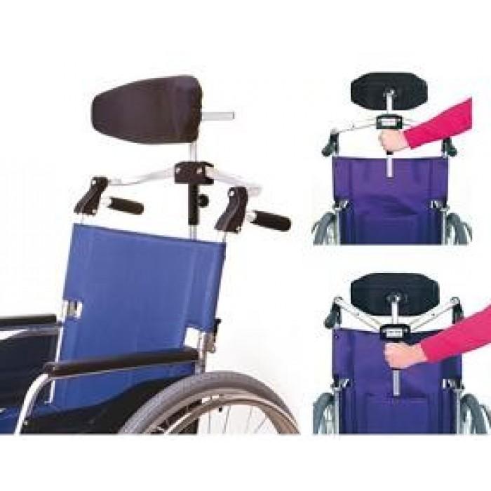 Silla de ruedas de acero plegable ortopedia movernos - Reposacabezas silla de ruedas ...