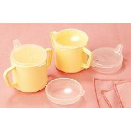 Vaso de Plástico con 2 Asas y 2 Tapas (H5720) - Ortopedia Movernos