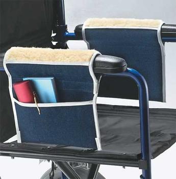 bolsa para guardar objetos en silla de ruedas