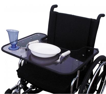 mesa para silla de ruedas manual