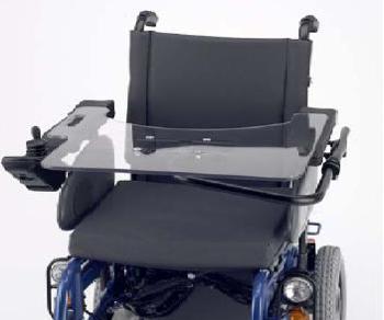 mesa para silla de ruedas eléctrica