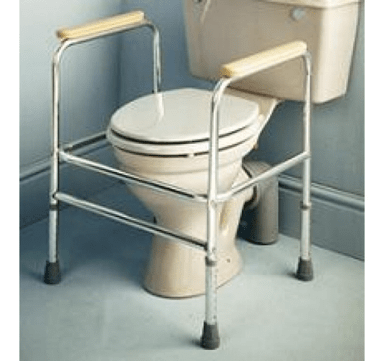 sistema de reposabrazos para inodoro