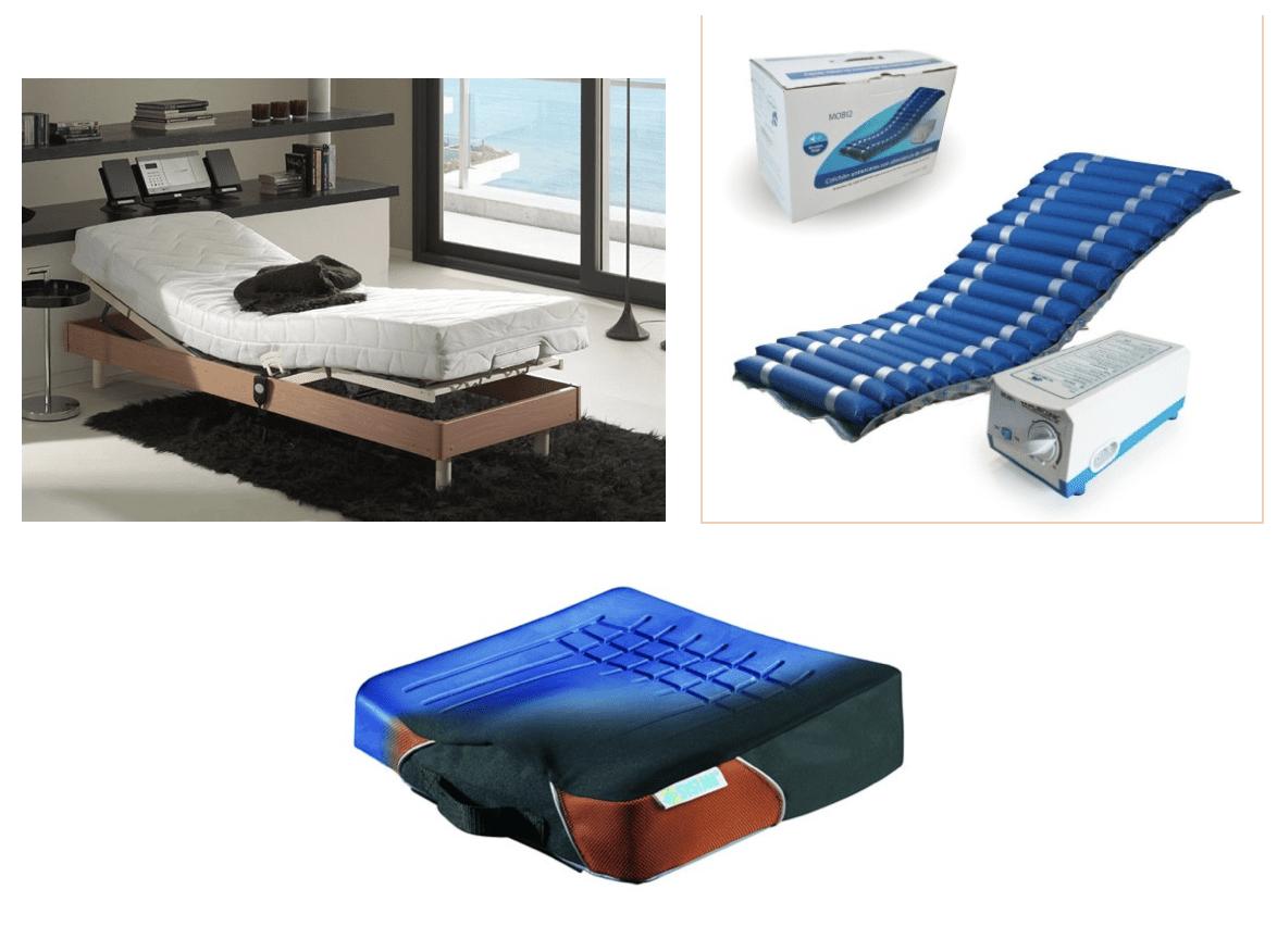 imagen con camas ortopédicas y colchones y cojines