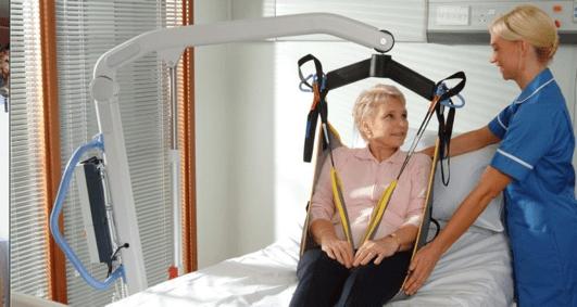 uso de una grua ortopedica