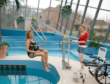 grua de piscina