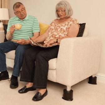 sofa con patas de goma