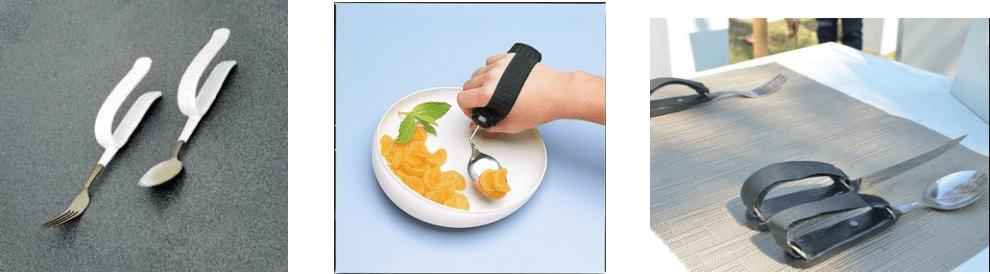 imagen de cubiertos con soporte o manopla