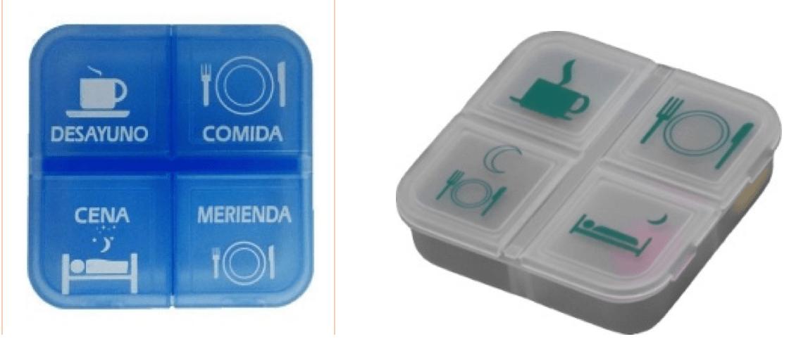 imagen de pastillero diario con 4 compartimentos
