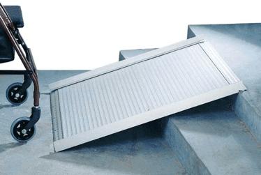 rampa de alumino que se puede recoger facilmente