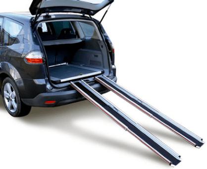 utilizacion de rampas telescopicas en automovil