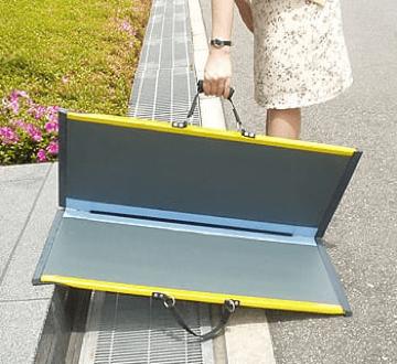 modo de utilizacion de rampa plegable