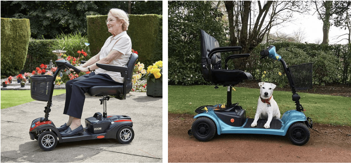 imagen de dos scooter para personas de movilidad reducida
