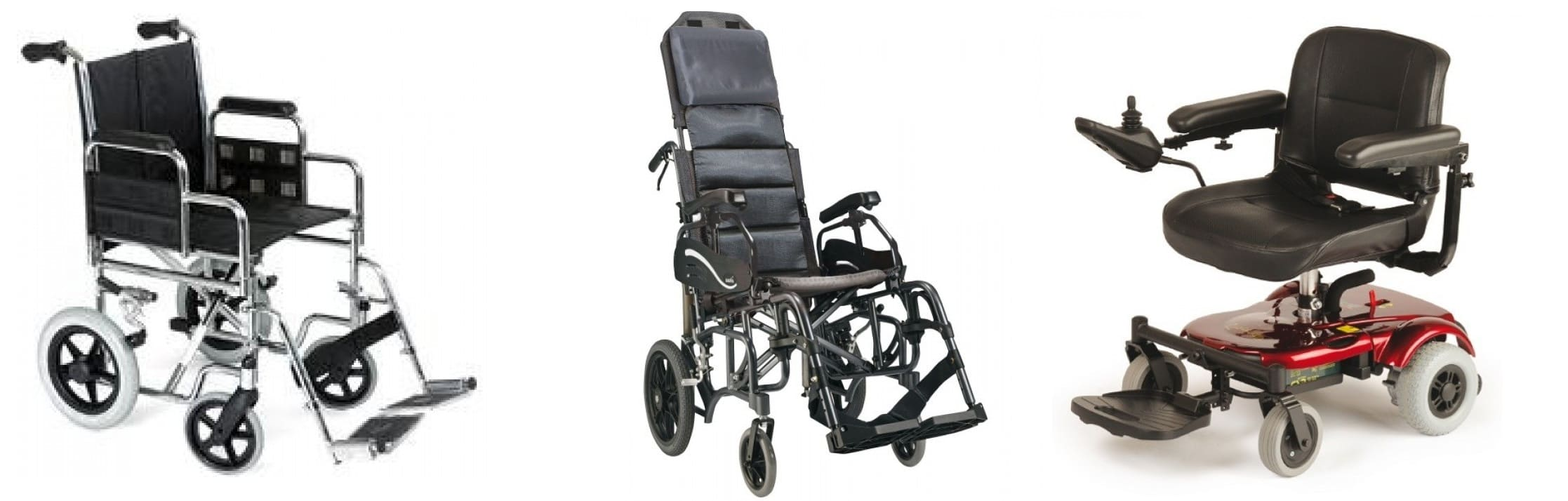 imagen de los tipos de silla de ruedas