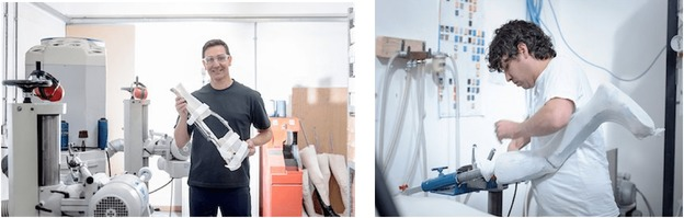tecnico fabricando prótesis ortoprotesicas