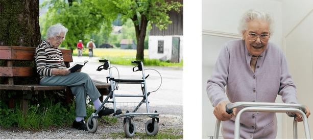 personas mayores con andador